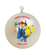 Personalized Pokemon Christmas Ornament Gift - $16.95