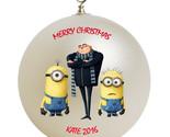 Despicable me minion and gru christmas ornament thumb155 crop