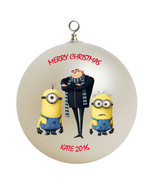 Personalized Despicable Me Minions and Gru Christmas Ornament Gift - $16.95