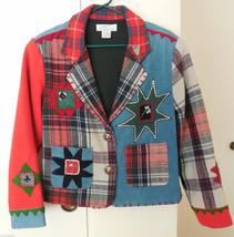 Unique SANDY STARKMAN Wool Jacket Sz S Wearable... - $39.59