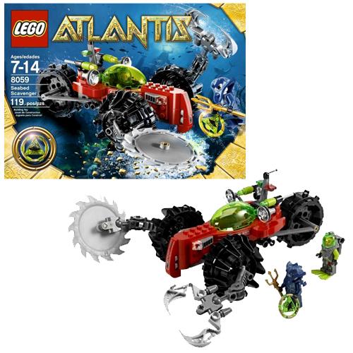 8059 Lego Atlantis Retired sealed SEABED SCAVENGER 119 pieces