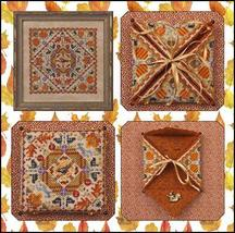 Autumn In The Meadow chart w/embellishments cross stitch chart Just Nan  - $15.30