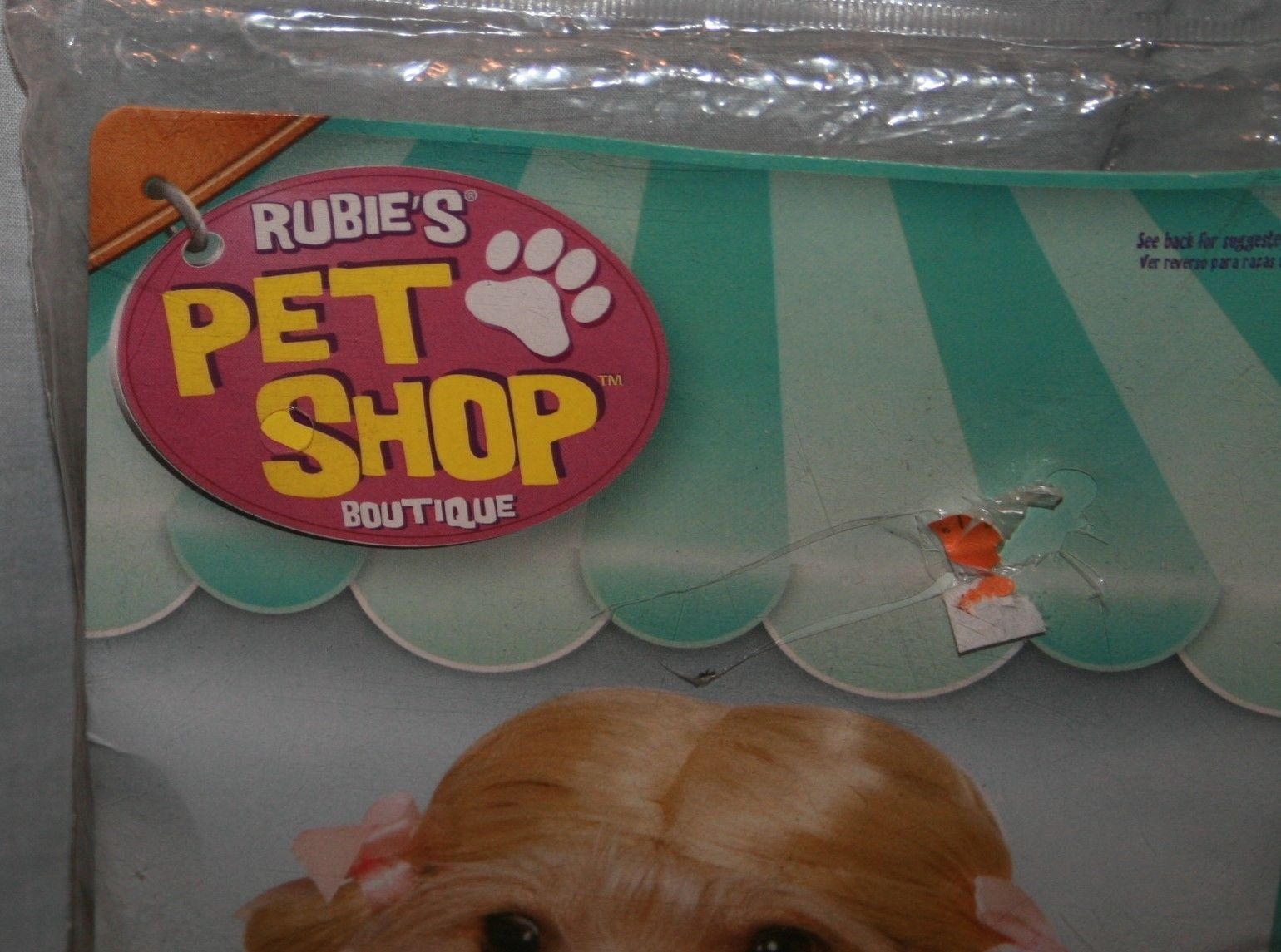 Rubies Pet Shop Boutique Pigtail Wig Dog S M Pig Tail Blonde Costume NIP