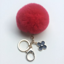 New! Summer Collection Electric Red fur pom pom... - $16.99