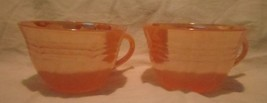Fire King Oven Ware Peach Coffee and Tea Cups, ... - $19.79