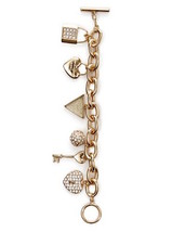 NWT Guess Gold Metal-Clear Rhinestones Multiple... - $24.74