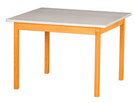 Children's Play Table   Orange & White Amish Handmade Wood Toy Furniture Usa - $156.39