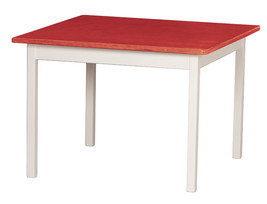 Children's Play Table   Red & White Amish Handmade Wood Toy Furniture Usa Made - $156.39