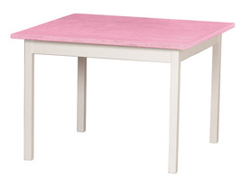 Children's Play Table   Pink & White Amish Handmade Wood Toy Furniture Usa Made - $156.39