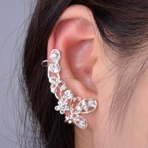 Butterfly Crystal Rhinestone Flower Leaf Ear Cu... - $8.00