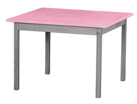 Children's Play Table   Pink & Gray Amish Handmade Wood Toy Furniture Usa Made - $147.35