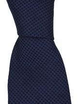 Kiton Men's Blue Black 100% Silk Classic Neck Tie 3.5 Inches - $163.35