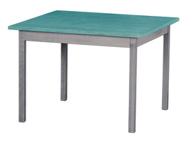 Children's Play Table   Turquoise & Gray Amish Handmade Wood Toy Furniture Usa - $147.35
