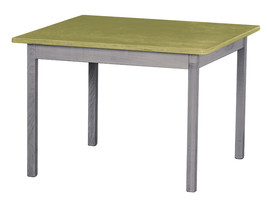 Children's Play Table   Green & Gray Amish Handmade Wood Toy Furniture Usa Made - $147.35