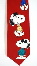 SNOOPY Joe Cool - Peanuts Cartoon - Men's Tie Necktie - 100% Silk - Dark... - $18.80
