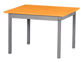 Children's Play Table   Orange & Gray Amish Handmade Wood Toy Furniture Usa Made - $147.35
