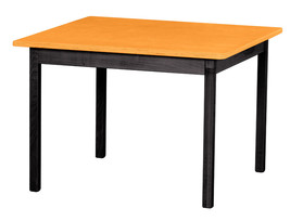 Children's Play Table   Orange & Black Amish Handmade Wood Toy Furniture Usa - $156.39