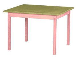 Children's Play Table   Pink & Green Amish Handmade Wood Toy Furniture Usa Made - $156.39