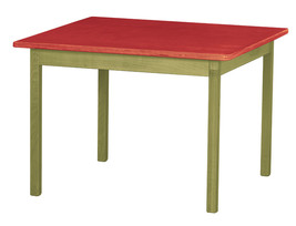 Children's Play Table   Green & Red Amish Handmade Wood Toy Furniture Usa Made - $156.39