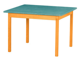 Children's Play Table   Orange & Turquoise Amish Handmade Wood Toy Furniture Usa - $156.39