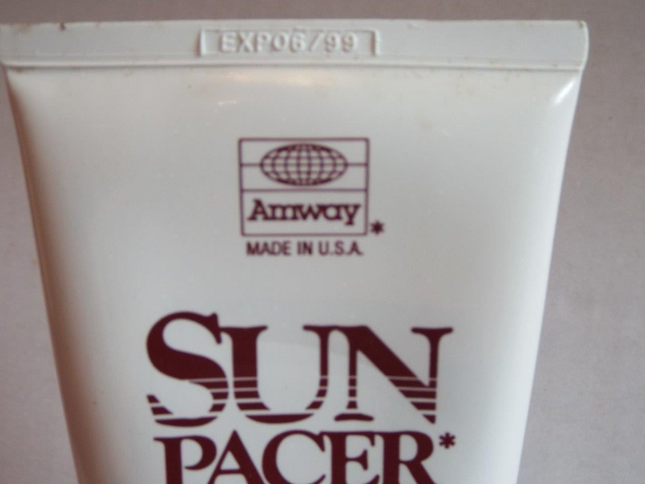 Vintage 1999 Amway SUN  PACER Sunscreen Lotion Made in USA NOS Display Only
