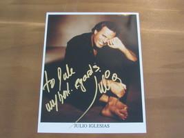 JULIO IGLESIAS SPAINISH LATIN POP SINGER SIGNED AUTO COLOR 8X10 PHOTO - $99.99