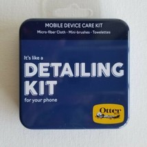 OtterBox Cell Phone Mobile Device Care Tin DETAILING KIT Cloth Brush Tow... - $8.98