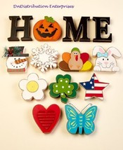 Seasonal Interchangeable Home Sign 10 Icons Seasons & Holidays Sentiment... - €27,02 EUR