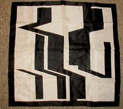 Vintage black white Mod scarf 26x27 - $16.65