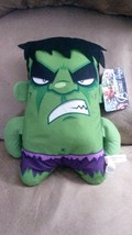 MARVEL AVENGERS ASSEMBLE HULK Square Brand New Licensed Plush Stuffed An... - $11.99