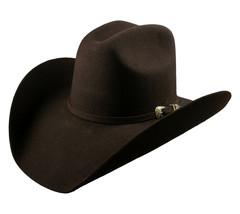 Men's Cowboy Hat El General Texana 50X Horma Rosendo Color Chocolate Wool - €73,77 EUR