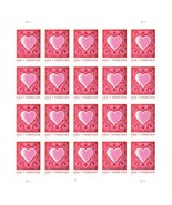 4847. Cut Paper Heart Sheet of 20 Forever Stamps Mint NH - Stuart Katz - €36,23 EUR
