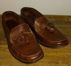 COLE HAAN Slip-On Brown Womens Size 8.5 B Driving Leather Loafers no. F6337 - $19.75