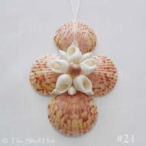 Seashell Cross Flower Crucifix Christmas Ornament Wall Hang Decoration B... - $14.50