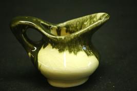 Vtg. Style Ceramic Miniature Green Drip Pitcher Country Kitchen Shadowbox Decor - $6.92
