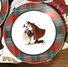 "Norman Rockwell The Saturday Evening Post ""MISTLETOE"" Christmas 10"" Plate  - $17.82"