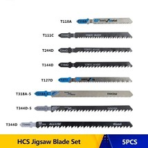 HCS Jigsaw Blade Set Shank Wood Metal Cutting T111C T118A T127D T144D T2... - $13.39+