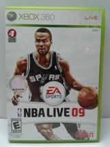 NBA Live 09 ~ EA Sports (Microsoft Xbox 360, 2009) NO MANUAL - $2.96