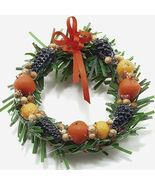 Dollhouse Christmas Della Robbia Wreath mul4063 Miniature - $11.28