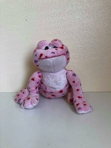 Plush Toy Stuffed Animal Webkinz Pink Love Frog No Code Ganz - $0.98
