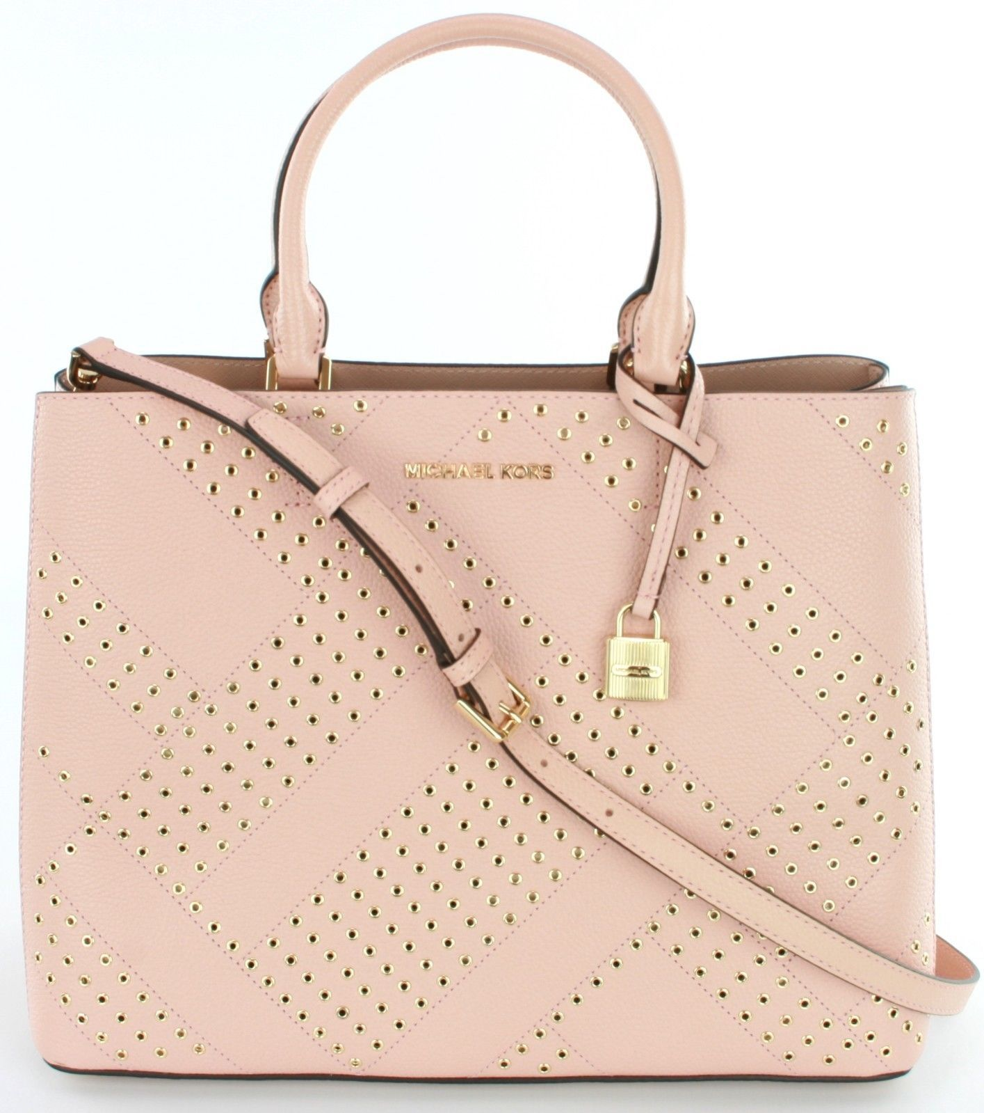 0021c1c6c228 Michael Kors Adele Pastel Pink Leather and 50 similar items. 57