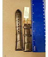 DeBeer Watch Band Alligator Leather Matte Black Turned Edge 20 MM Value ... - $90.20