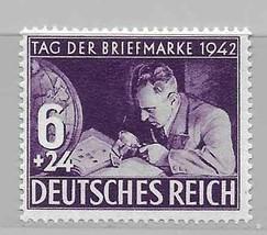 1942 Philatelist Germany Postage Stamp Catalog Number B201 MNH