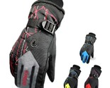Men Winter Warm Waterproof -30℃ Snow Motorcycle Snowmobile Snowboard Ski Gloves