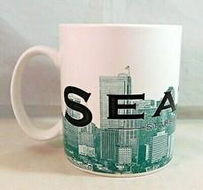Starbucks Seattle Emerald City Mug White Skyline Series 1 Coffee Cup 2002 - $14.49