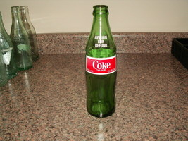 1980 GREEN PAINTED LABEL COKE BOTTLE—Return For Refund Coca Cola bottle - $49.00