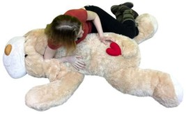 Big Plush 5 Foot Stuffed Puppy Dog Soft 60 Inch, Red Heart on Butt to Sh... - $139.99