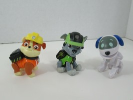 Spin Master Paw Patrol Mission Paw Figures Rocky Rubble +  Robo Dog Robot lot 3 - $16.82