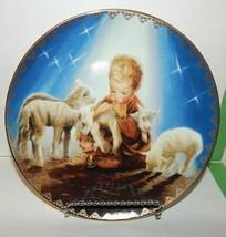 "The Miracle of Christmas ""Shepherd of Love"" Plate Music Box Bradford Exchange - $19.75"