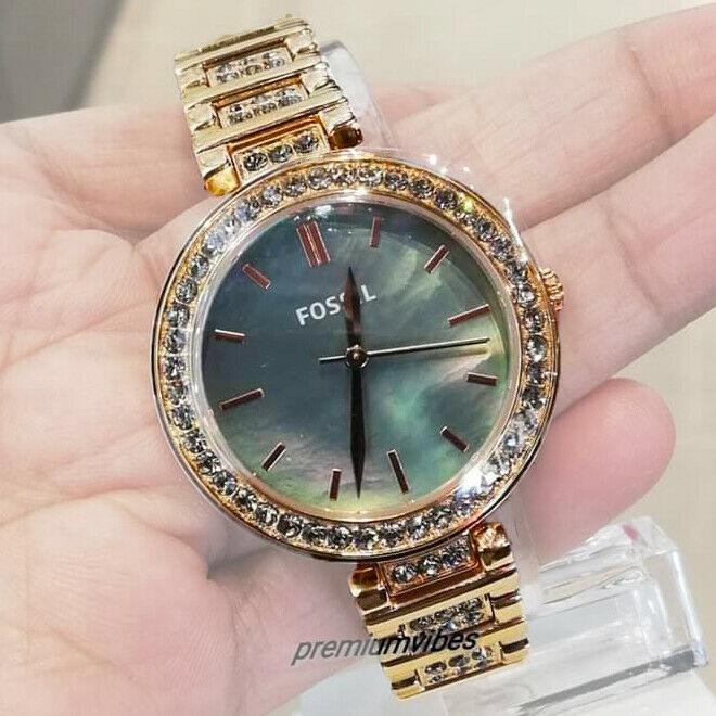 Primary image for FOSSIL Ladies Karli Three Hand Rose Gold Tone Stainless Steel Watch BQ3422 New